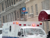 Bless the EMTs, they've been going non-stop since the snow began.