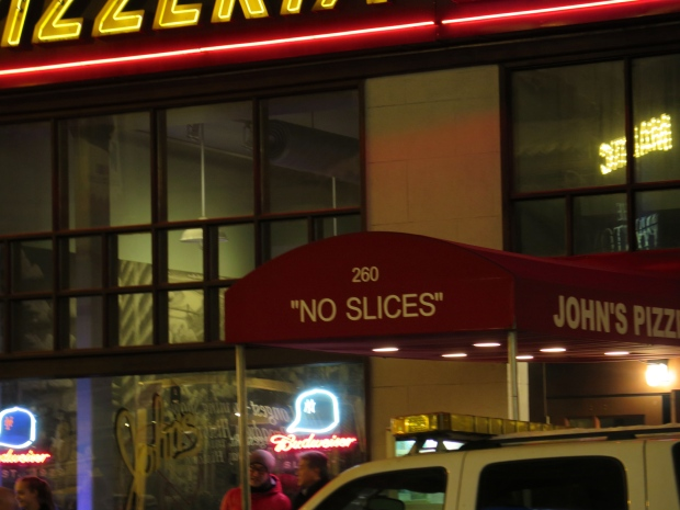 Yes, it needs to be said.  Pizza is sold by the slice in most places in NYC