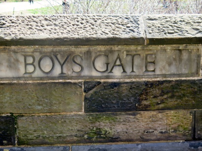 "There are 20 ""gates"" into the park, named in the 1860s, but most didn't have the names carved into the stone until this century."