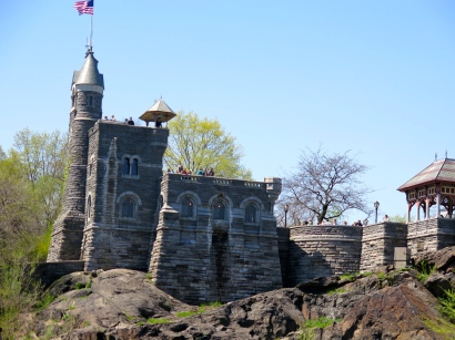 Castle overlooking turtle pond