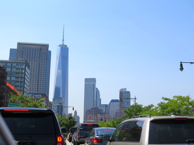Nice view of the new World Trade Center on our way to the Holland Tunnel.
