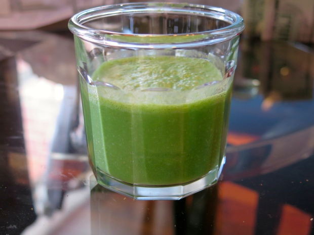 Kale smoothie. Don't knock it 'til you try it.