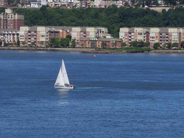 Lucky souls sailing down the Hudson River.