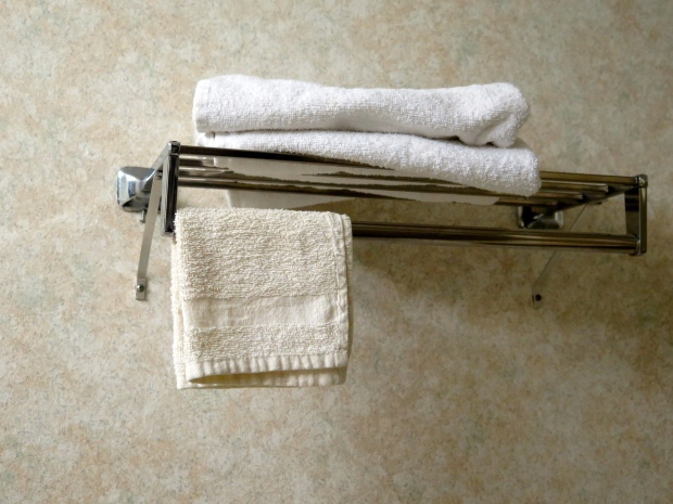 Anyone care for a yellow, crusty washcloth? I bet no one steals their linens.