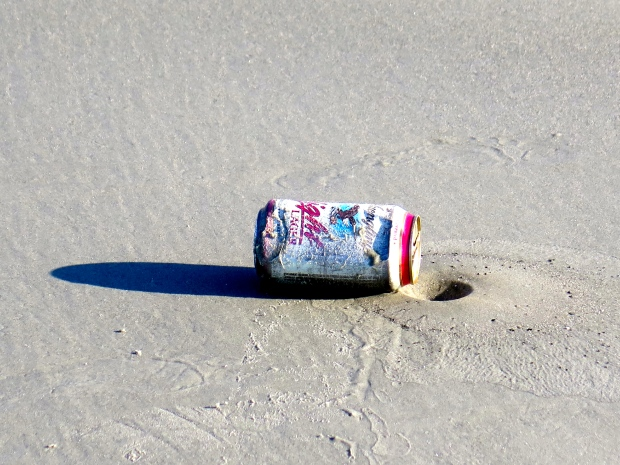 Trash on the beach is terrible, yet there's beauty in there.
