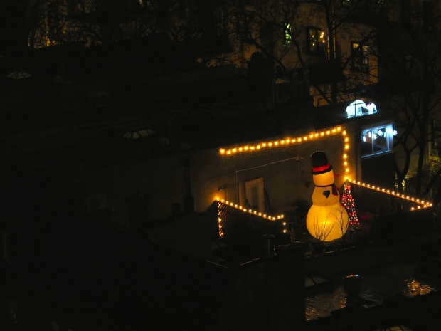 If I can see this guy's rooftop decorations from my terrace, does that count as us being decorated?