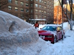 Not even a blizzard gets between New Yorkers and their restaurant deliveries.