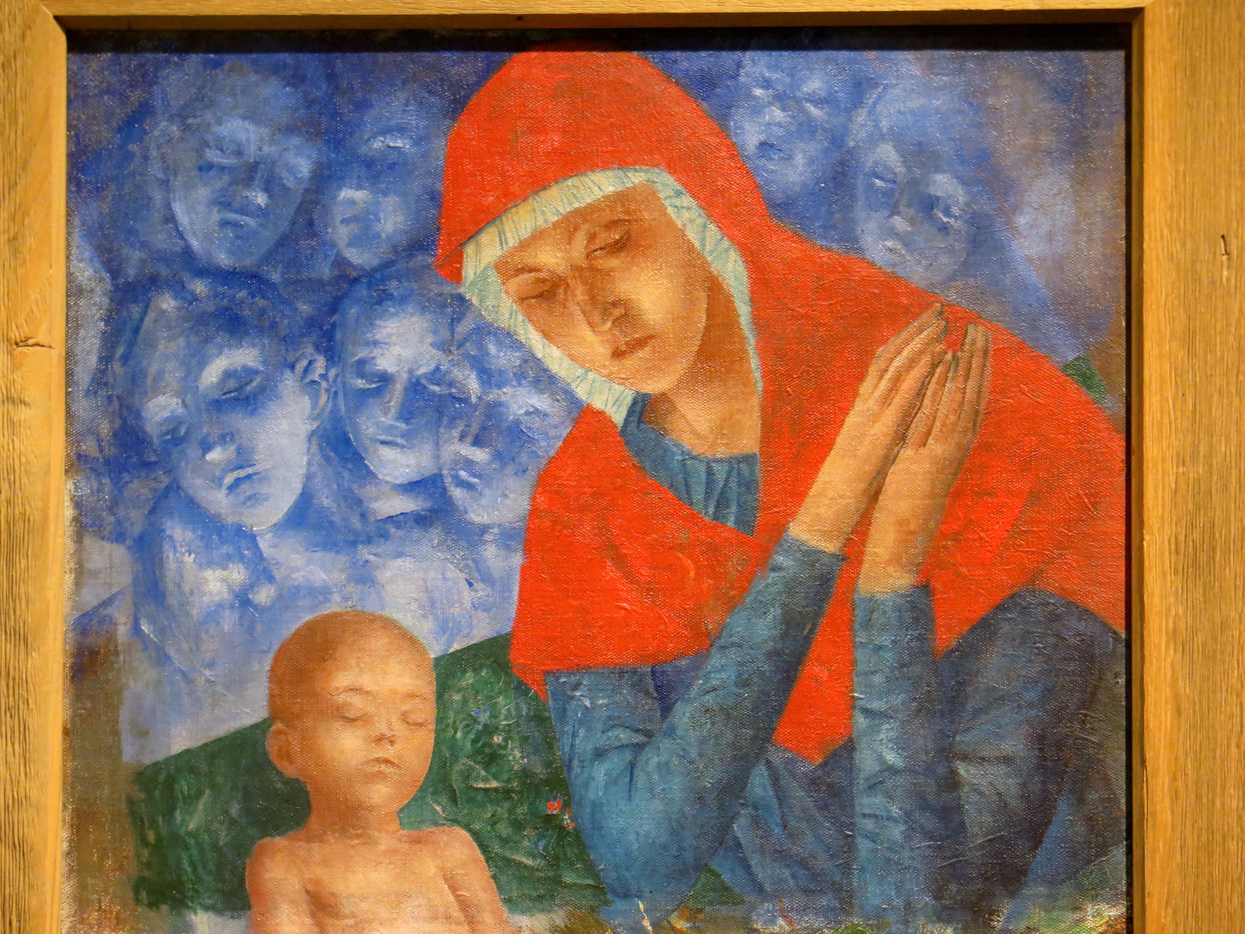 Mother of God with Child--Kuz'ma Petrov-Vodkin