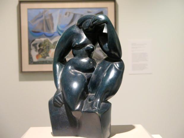 "Alexander Archipenko, ""Seated Woman,"" 1912-Bronze"